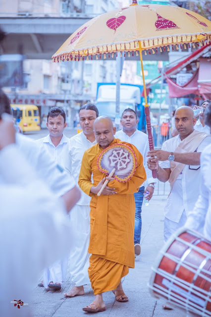 Most Venerable Mawarale Bhaddiya Thero proceed to dhamma sermon