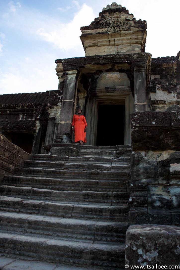 Exploring Angkor Wat Temple At Sunrise In Siem Reap