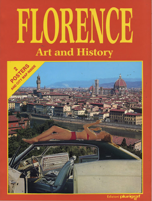 altered collage book about Florence