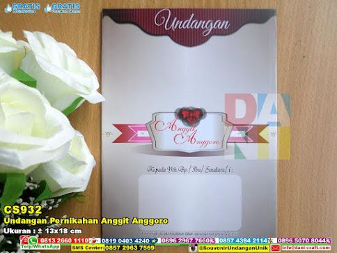 Undangan Pernikahan Anggit Anggoro