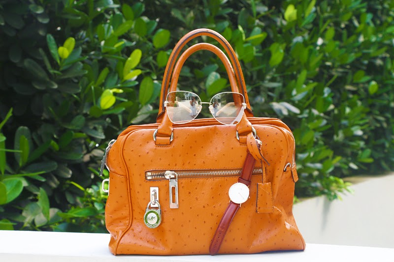Crystal Phuong- Michael Kors handbag brown