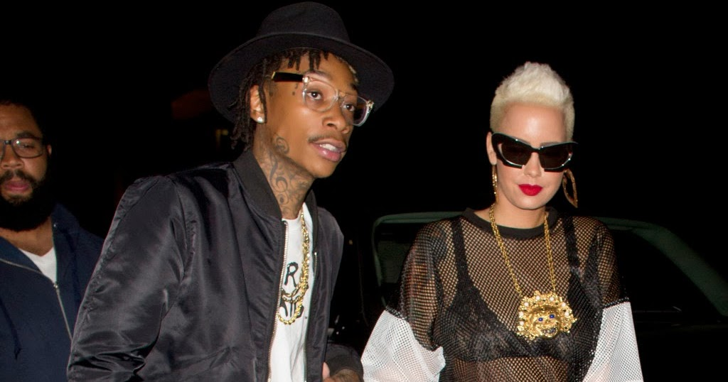 e4d5e23d67 Hip Hop Couples  Amber Rose   Wiz Khalifa Hits Hollywood Streets (PHOTOS)