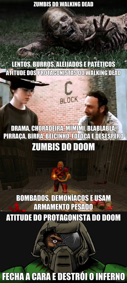 Doom vs. novelinha gringa com zumbis