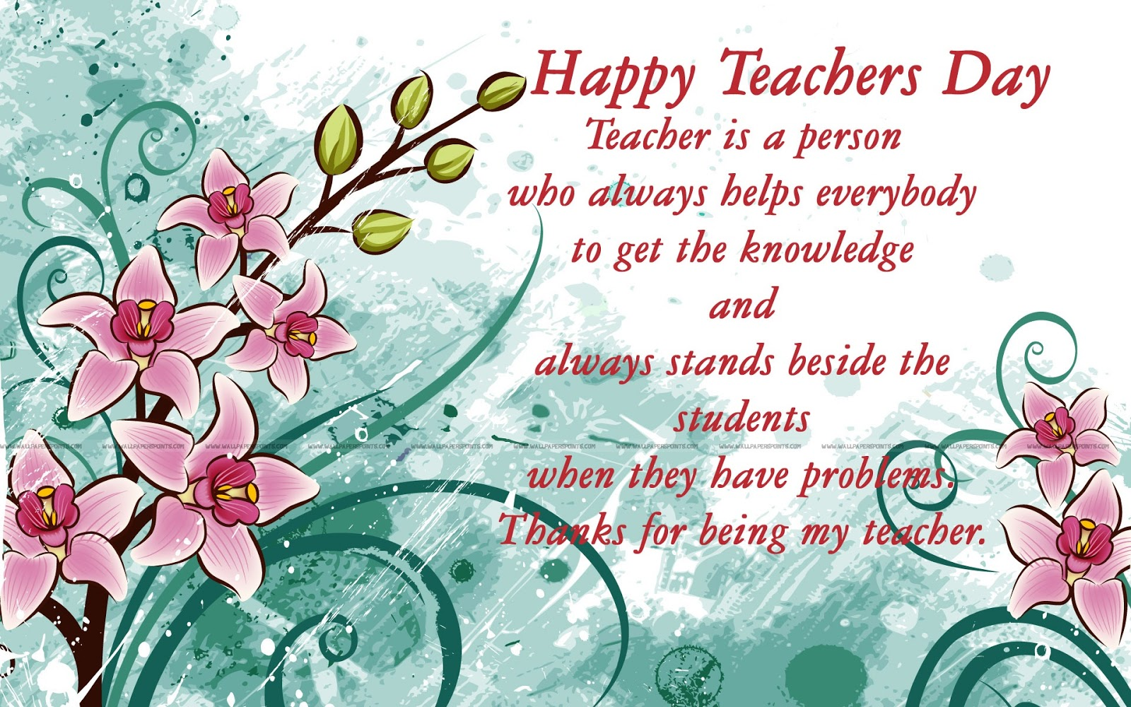 About teachers day
