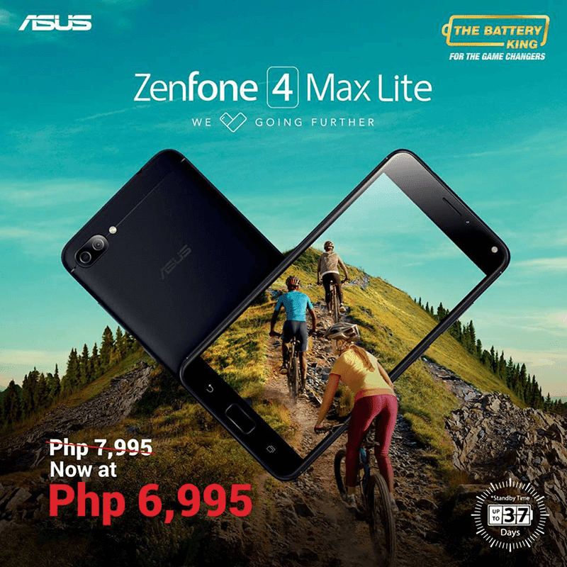 Sale Alert: ASUS ZenFone 4 Max Lite is now priced at just PHP 6,995