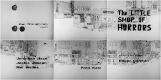 Pantalla de título La pequeña tienda de los horrores - 1960