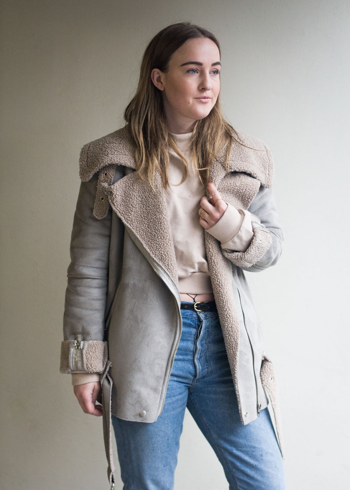 Fashion Trends - Canadian Style Blog - Winter outfit - fishnets, loafers, mom jeans