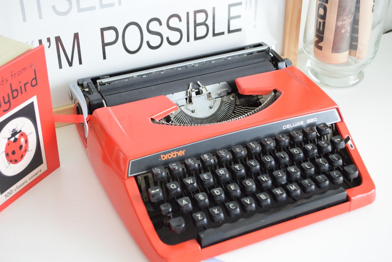 Retro maszyna do pisania