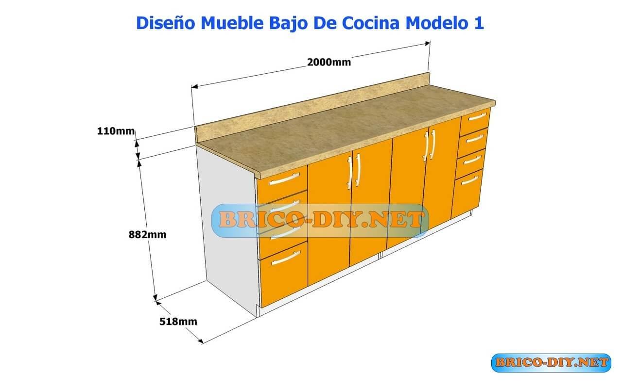 diseños de muebles bajos de cocina en mdf madera y melamina | web ... - Disenos De Muebles De Cocina