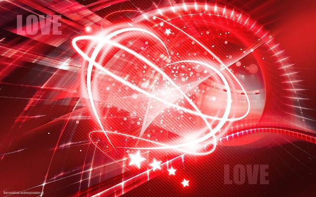 Groot liefdes hartje van licht en de tekst love