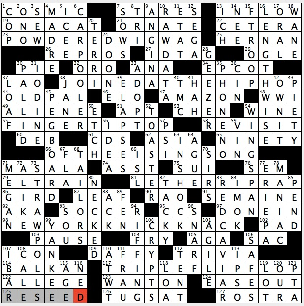 Rex Parker Does the NYT Crossword Puzzle: 1960s sitcom set in 1860s ...
