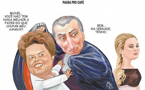 Pensamento lógico do Barão: O Vasco tem fama de vice e caiu 3 vezes; o Temer era vice de Dilma, subiu e, como seu colega Vasco, vai cair também.