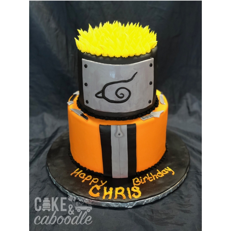 Sensational Naruto Cake Cake And Caboodle Personalised Birthday Cards Sponlily Jamesorg