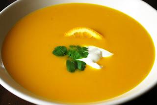 zupa krem z marchewki i pomarańczy