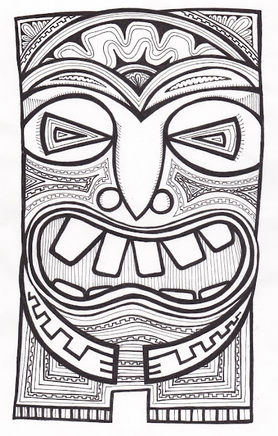 Stitchlily How To Draw Tiki Head