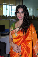 Marath Actrss Urmila Kanitkar Celetes Gudi Padwa in Orange Saree 31.JPG