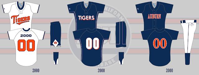 auburn softball uniform 2000