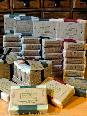 Soaps created for the Tanfield Railway by Oakwood Soaperie