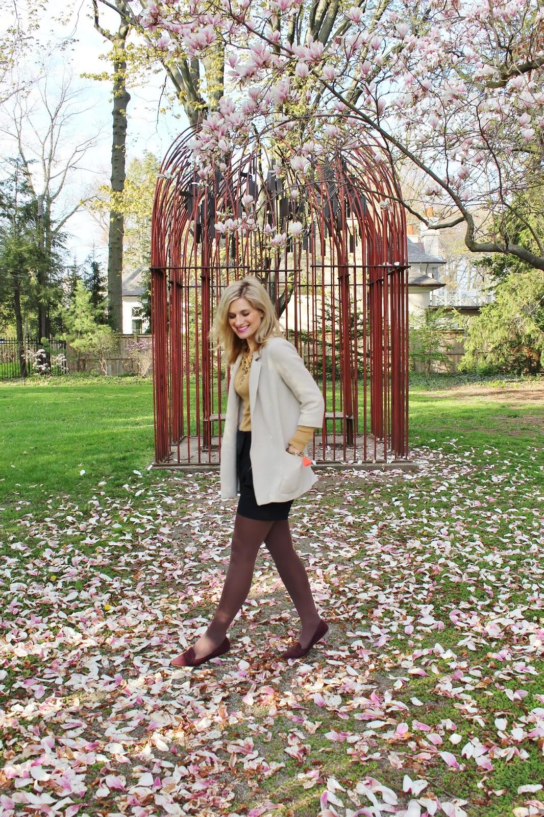 bijuleni-preppy spring outfit shorts and Zara jacket