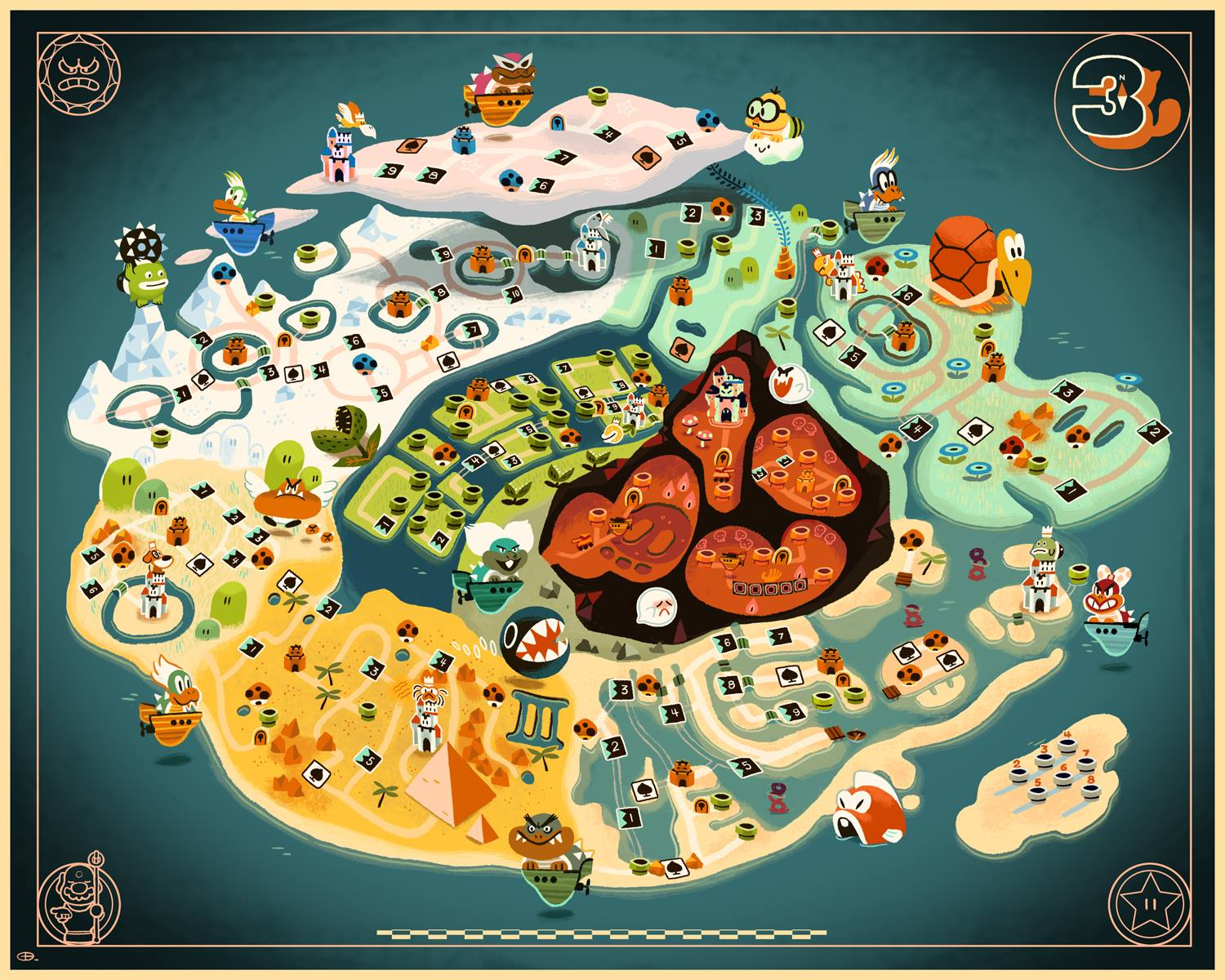 Mario 3 World Map.Things To Do In Los Angeles Mario 3 Map Art