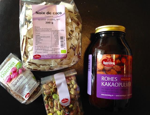 Cacao, noix de coco et pistaches - Keimling