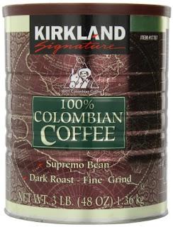Supremo Bean 100% Dark Roast-Fine Grind Colombian Coffee - Kirkland Signature