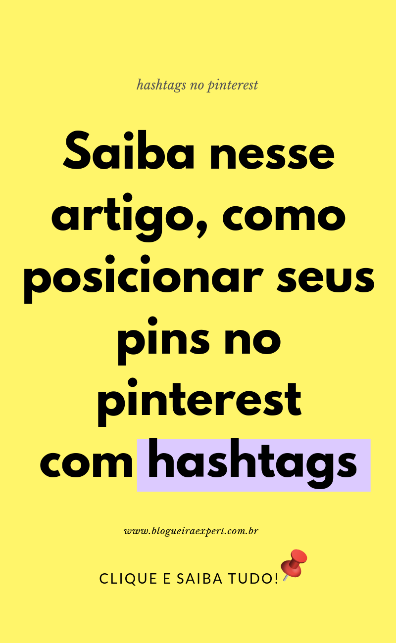 Como usar hashtags no Pinterest?