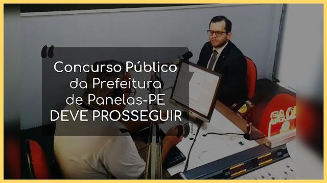 Concurso Público da Prefeitura  de Panelas-PE  DEVE PROSSEGUIR