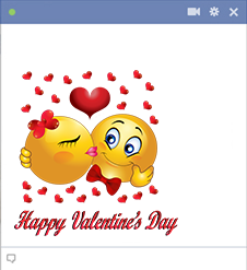 Happy Valentine's Day Facebook Sticker