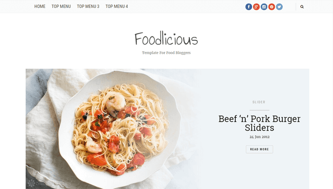 Foodlicious Blogger Template by Yo..! Templates