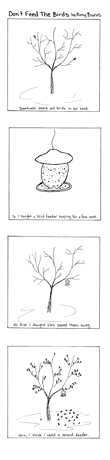 Bird Feed Comic by Amy L. Burns