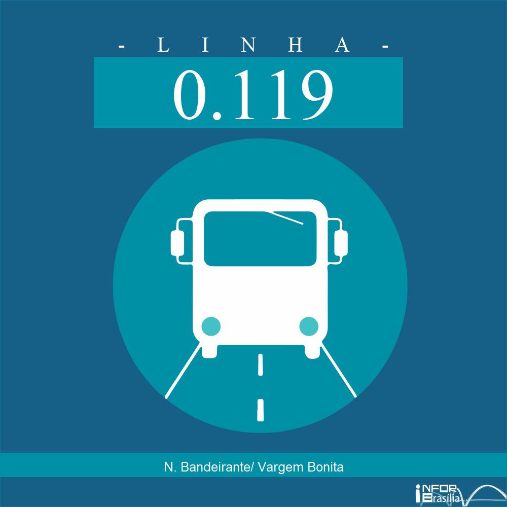 Horário de ônibus e itinerário 0.119 - N. Bandeirante/ Vargem Bonita