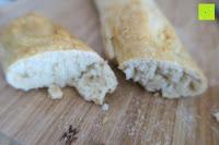 Brot innen: Amazy Baguette-Backblech – Die antihaftbeschichtete Back-Form zur Herstellung von Baguette und weiteren Gebäcken