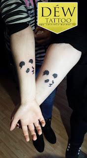Panda tetoválás By: Déw art Szeged