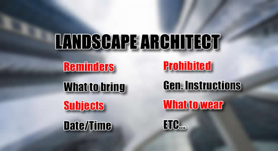 Landscape Architect Licensure Exam July 2018: List of Reminders, What to Bring, Date, Time Subjects of Exam