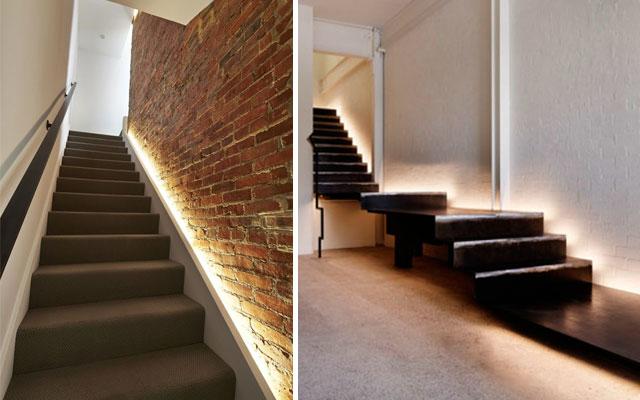 Marzua ideas para decorar escaleras con luz - Iluminacion led escaleras ...