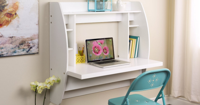 Prepac Wall Mounted Floating Desk With Storage 53 15 Reg