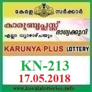KARUNYA PLUS KN-213 LOTTERY RESULT