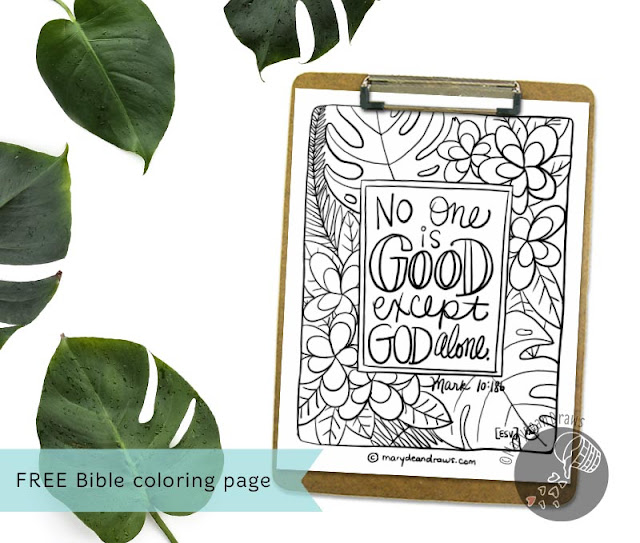 printable Bible verse coloring page