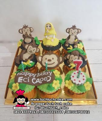 Cupcake Tema Monyet