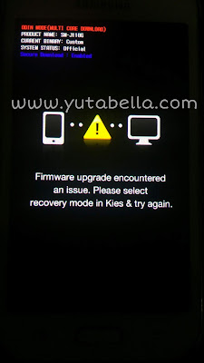 Samsung muncul firmware upgrade encountered an issue