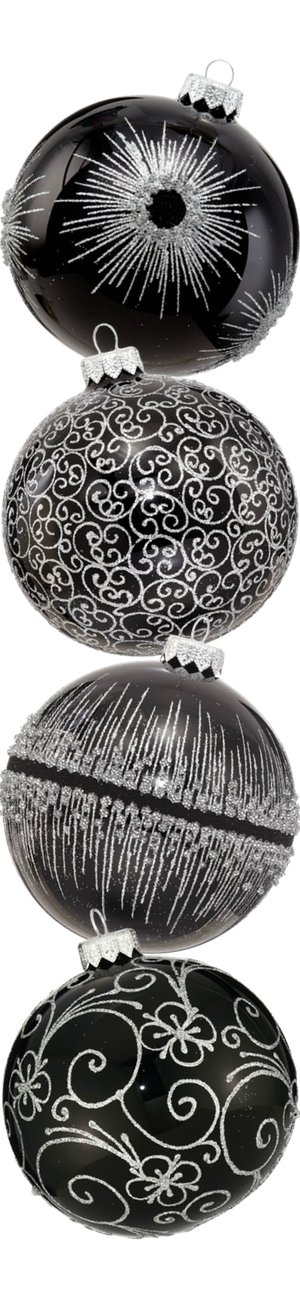 Andrey Filatov Assorted Black Glass Ornaments