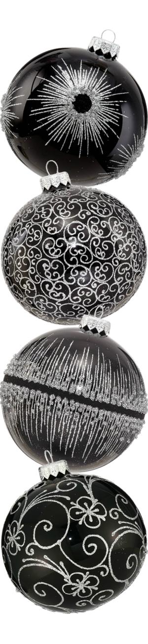 Andrey Filatov Assorted Black Glass Ornaments