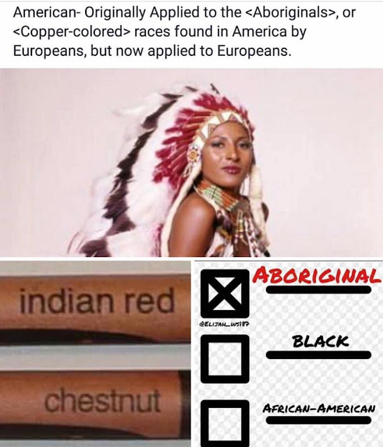 copper colored indigenous indian red
