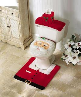 Ohuhu Christmas Santa Toilet