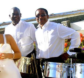 Steelasophical wedding steel band duo
