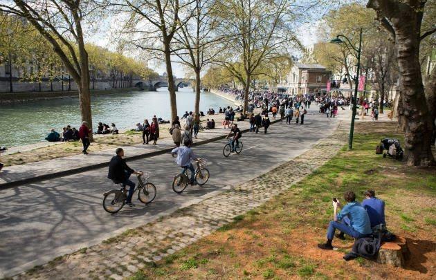 Parc Rives de Seine em Paris