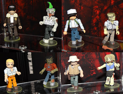 The Walking Dead Minimates - Shane & Zombie, Glen & Zombie, Andrea & Zombie and Dale Horvath & Zombie