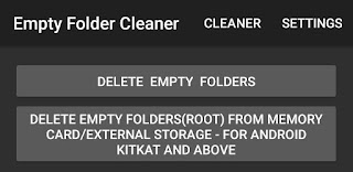 Delete empty folders on Android