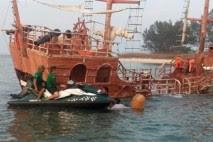 A punto de naufragar embarcación en Veracruz con 46 pasajeros a bordo